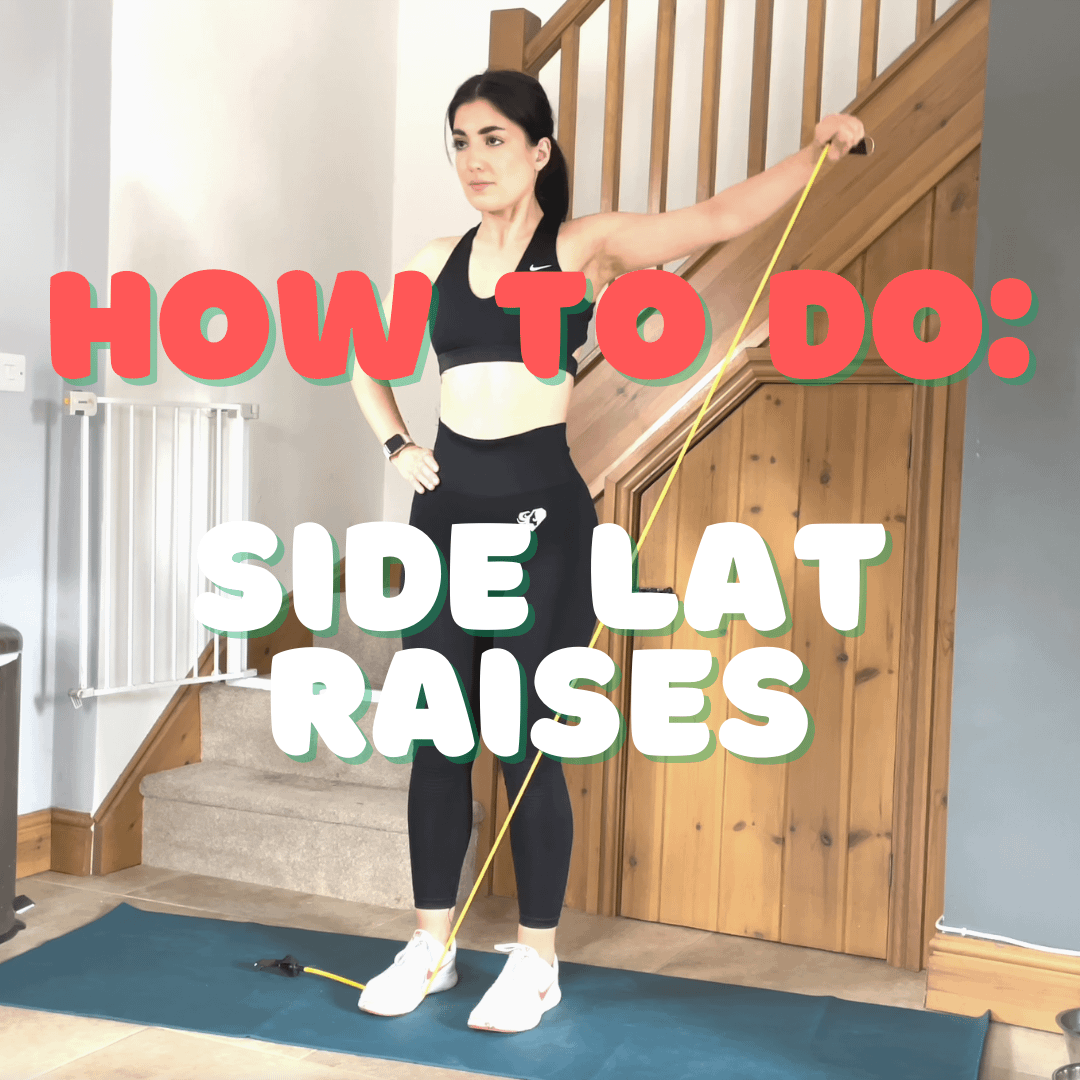 How to do a Side Lateral Raise Exercise with Resistance Bands at home